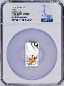 2020-Lucky-Cat-1oz-Silver-Proof-Rectangle-Coin-NGC-PF-70-FR