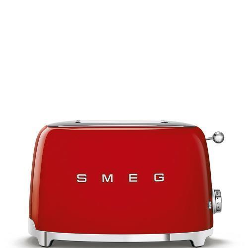 SMEG TSF01RDEU GRILLE-PAIN TOSTA PAIN 2 TRANCHES ANNI '50 ROUGE 950 WATT