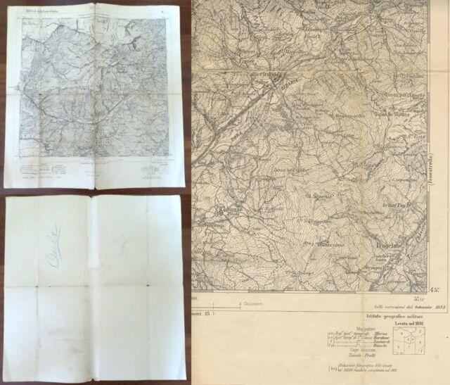 Cartina Militare Piemonte.Cartina Originale Oulx F 54 1895 I G Militare Piemonte Torino Ebay