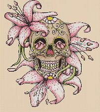 Cross Stitch Chart - sugar skull / day of the dead no. 8- No. 364 .TSG37
