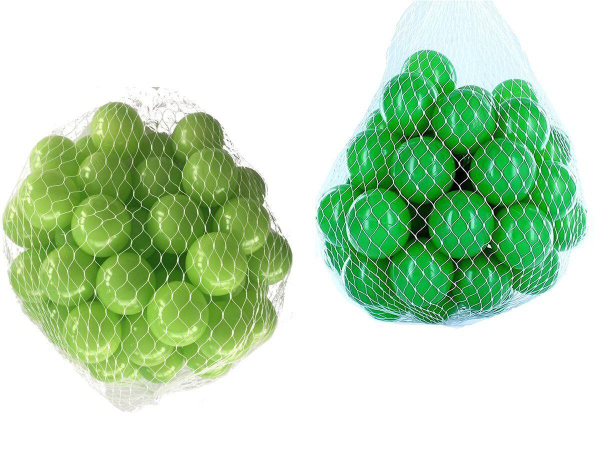 100-10000 Bällebad Bälle 55mm mix grün hellgrün gemischt Farben Baby Kind