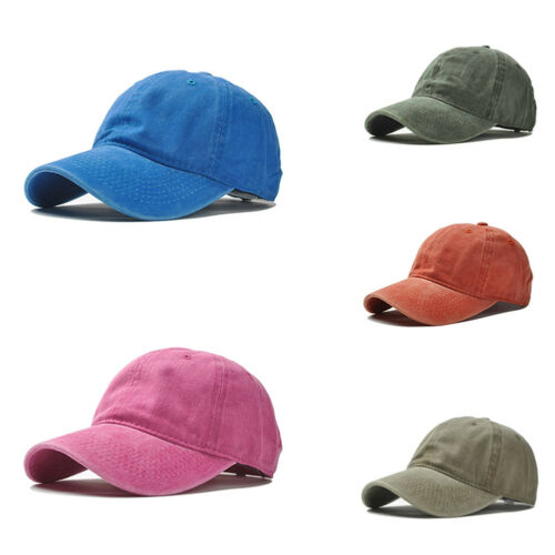 LX/_ LC/_ Solid Baseball Cap Plain Blank Strapback Adjustable Solid Hat Polo Sty