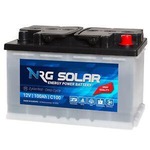 NRG-Solarbatterie-12V-100Ah-Wohnmobil-Versorgung-Solar-Boot-Camping-Batterie