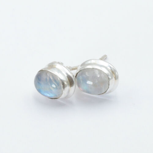 Mondstein Ohrstecker Sterling Silber 925  Ohrringe Weiß Ohrschmuck Damen Kira