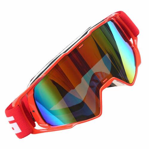 Red Frame Motorcycle Motocross ATV MX Dirt Bike Off Road Racing Goggles Glasses