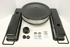 SB Chevy Black Engine Dress Up Kit Tall Valve Covers Air Cleaner 58-79 SBC 350