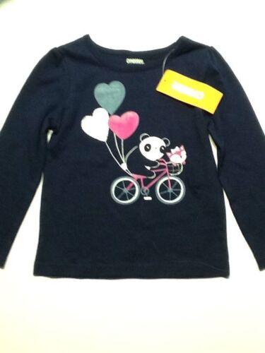 NWT Gymboree Girls Happy Panda Bicycle Balloons Top Size 6-12-18 18-24 M 2T /& 3T
