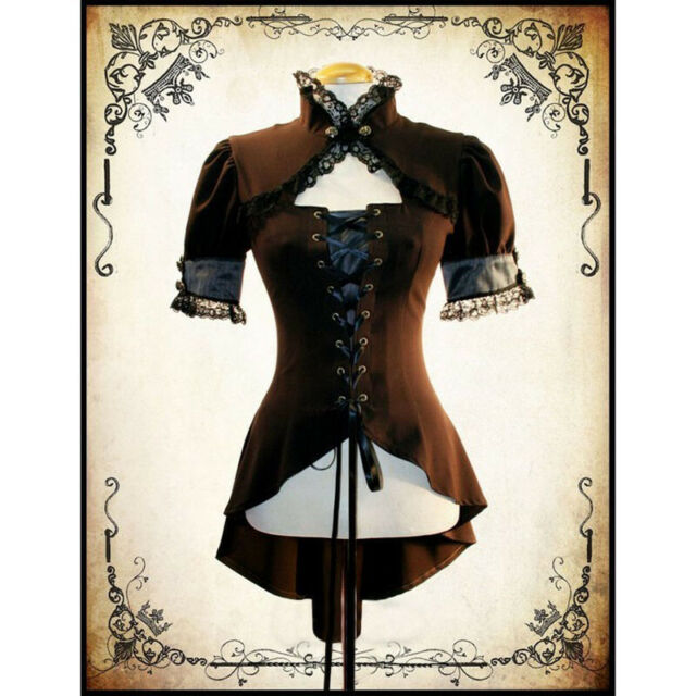 Corset style Steam Punk //Goth LadIes Short Sleeve T-Shirt size SMALL