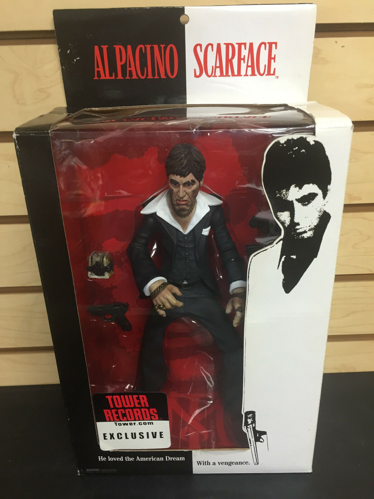 scarface  al pacino tower records exklusive tony montana mezco 10  action - figur