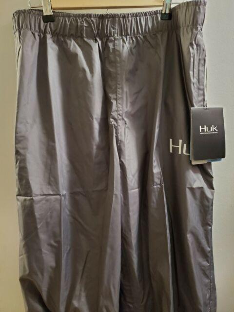 HUK Performance Fishing Men's Packable Rain Pants Charcoal XL NWT MSRP $99