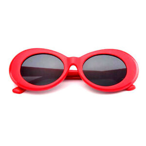 aec0c50f15d Image is loading RED-CLOUT-GOGGLES-GLASSES-OVAL-UNISEX-SUNGLASSES-RAPPER-
