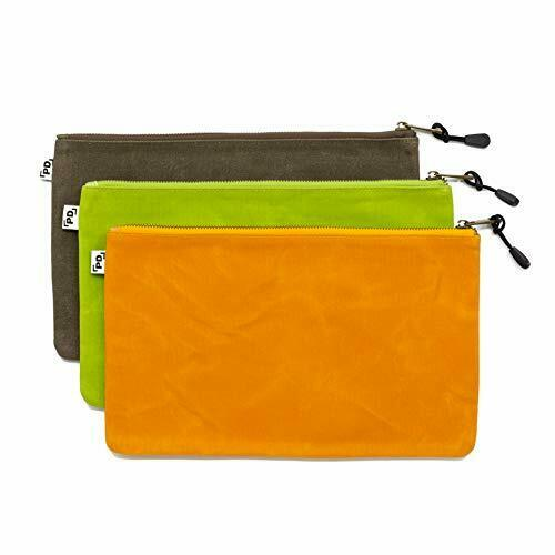Precision Defined Heavy Duty Waxed Canvas Tool Bags Builders with Zipper 3 Pack