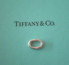 NEW! Tiffany & Co. Silver Oval Jump Spring Ring Clasp Italy 4 Bracelet Necklace