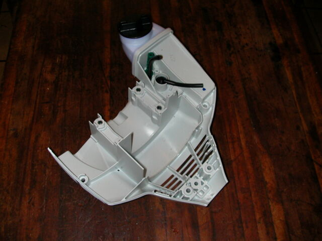 off of brand new trimmer, Stihl FS56RC Bottom Cover//Fuel Tank Trigger etc OEM