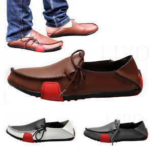 b56ae5bfe926c Men Moccasin Driving Boat Shoes Summer Soft Casual Leather Loafers ...