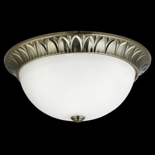 Deckenlampe Deckenleuchte Lampe Dekorative Metall Antikmessing Glas LED NEU