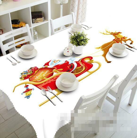 3D Santa Claus 71 Tablecloth Table Cover Cloth Birthday Party Event AJ WALLPAPER