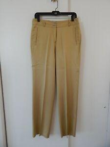 womens-gold-TOMMY-BAHAMA-pants-slacks-trousers-100-silk-flat-front-pockets-s-6