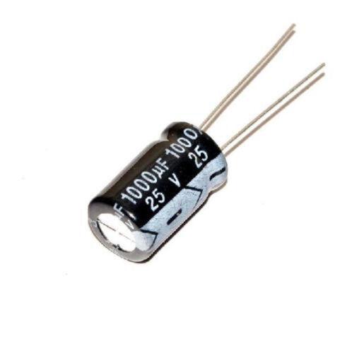 10PCS 1000uF 25V Radial Aluminum Elektrolytisch Fixed Kondensatoren High AIP