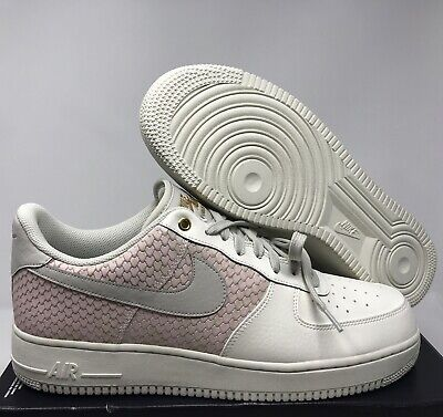 NIKE AIR FORCE 1 07 LV8 SAIL LIGHT BONE METALLIC GOLD SZ 13