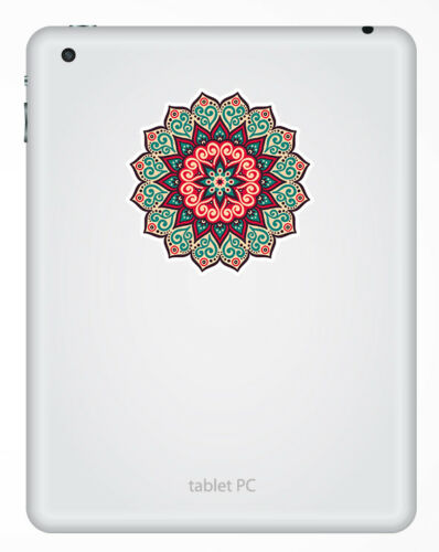 Sticker Laptop Luggage Gift #19357 2 x 10cm Mandala Boho Indian Vinyl Stickers