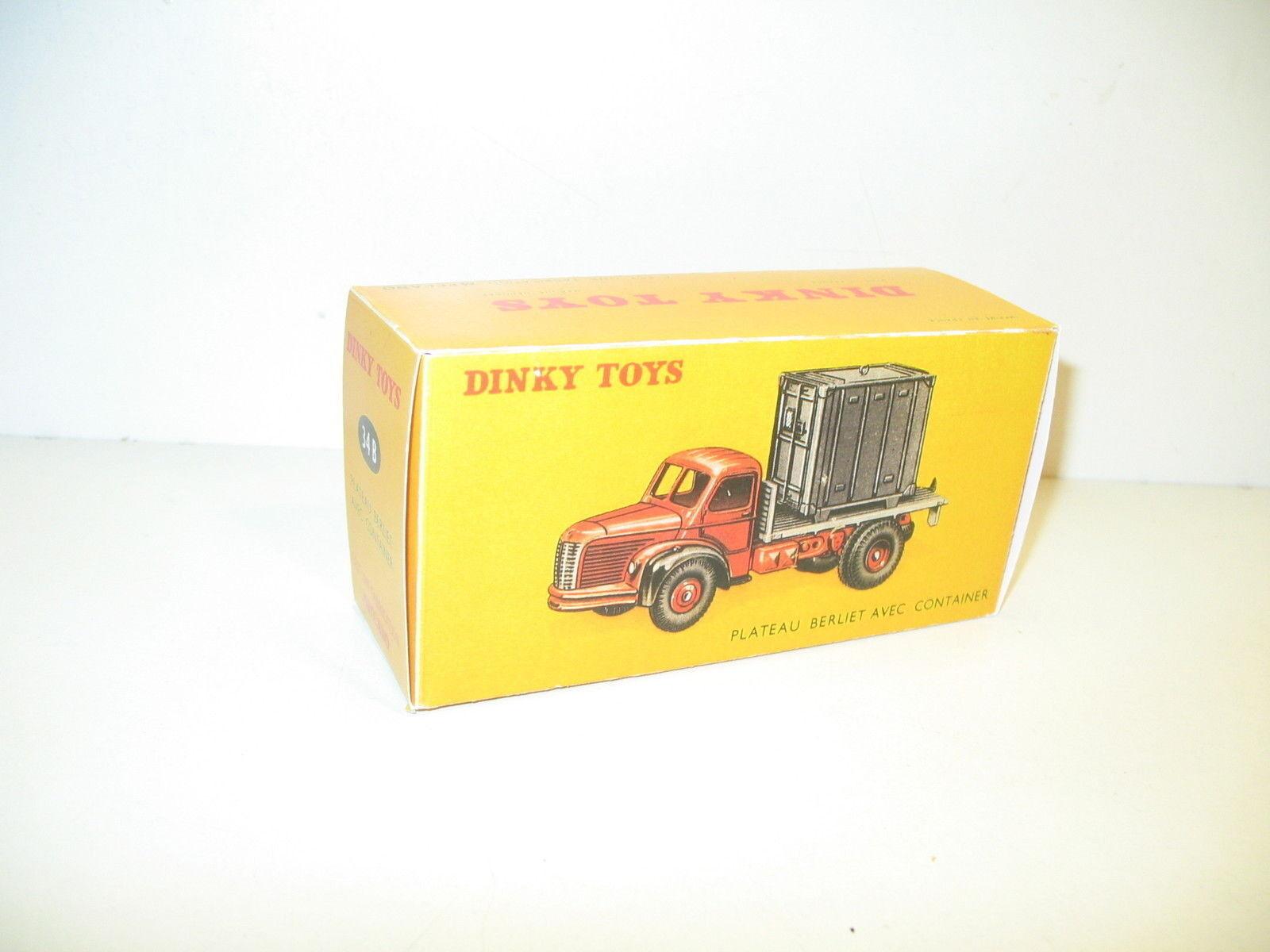 N44, Scatola berliet altopiano porta contenitore, repro dinky toys rif. 34B