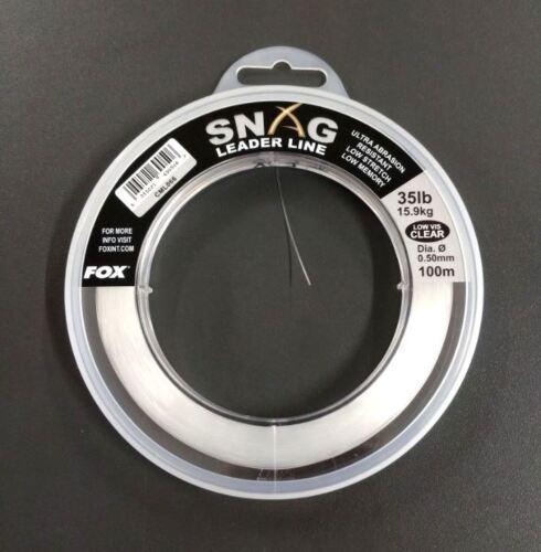 35lb 15,9kg 100m Monofile Schlagschnur NEW Snag Leader Line Clear 0.50