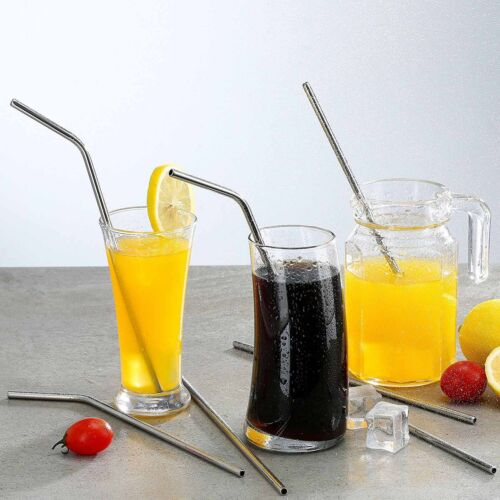 Extra Wide Long Reusable Fat Boba Metal,8-16pcs Stainless Steel Drinking Straws