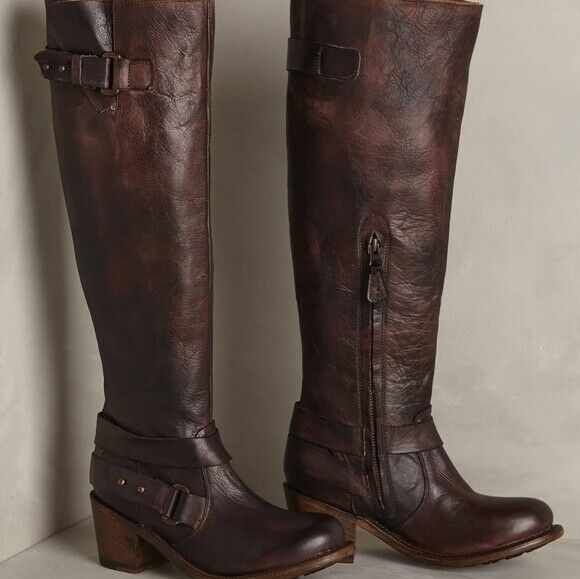 NEW Anthropologie Gee Wawa Stephanie Boots size 7 MSRP     348 Leather Brown fa86ab