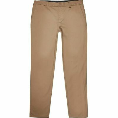 River Island Mens Big And Tall Tan Slim Fit Chino Trousers