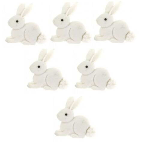 Jesse James Buttons ~ Dress It Up ~ WHITE BUNNY buttons ~ Sew Craft Quilt Scrap