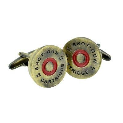 Men's Accessories Sweet-Tempered Matt Finish Brass Shotgun Cap Cufflinks Presented In A Box X2aj494