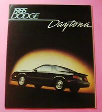 1985 DODGE DAYTONA SALES SHOWROOM BROCHURE....20 PAGES