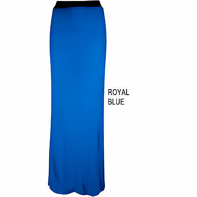 Womens Ladies Gypsy Maxi Skirt Full Length Stretch Casual Skirts Long 8 10 12 14