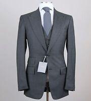 Tom Ford Solid Gray 3-piece Peak Lapel Suit Size 38 L (48 L Eu) Fit A Model