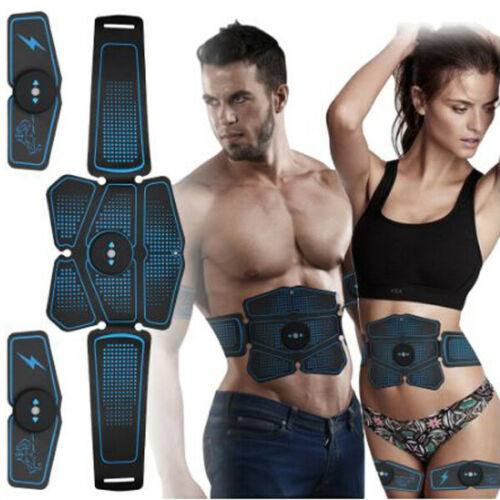 Details about  /Abdominal Muscle Stimulator Trainer EMS Abs Weight Loss Fitness Equipment
