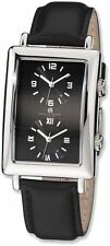 Mens Charles Hubert Dual Time Black 33x53mm Dial Watch