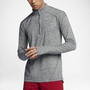 34887cc0 Men's Nike Dri-Fit Element Long Sleeve Half-Zip Running Shirt LARGE ...
