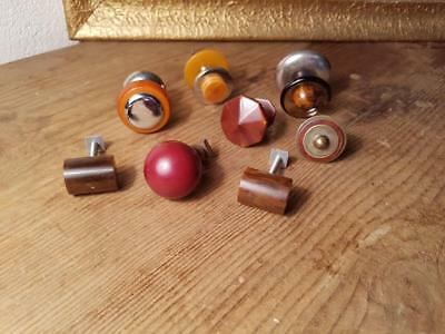 Honest 8 Assorted Art Deco Tested Bakelite Pull Handles Knobs 178 Grams-0,392 Lb Architectural & Garden Antiques s21153 Fast Color