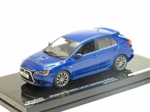 Lighting Blue 1//43 Scale model Mitsubishi Lancer Sportback Ralliart
