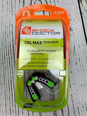 Adult Shock Doctor Gel Max Power Carbon Convertible Mouth Guard Red