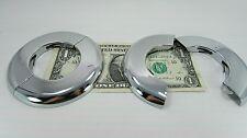 2 Split Chrome Escutcheon Trim Rings for 1-7/8 Outside Diameter Pipe & Tube Hole