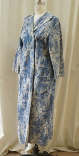 40s Cotton Fleece Print House Coat