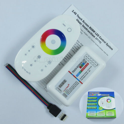 2.4G RF wireless Touch Screen Remote 12-24V 24A RGBW RGB LED Controller Dimmable