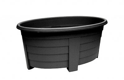 Oval Planter 55cm Ebony