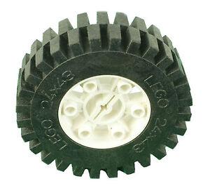 Missing Lego Brick 3739 /& 3740  White /& Black Technic Tyre /& Hub 24 x 43