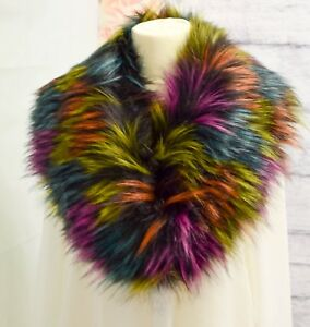 New-Ladies-Winter-Faux-Fur-Scarf-Neck-Warmer-Wrap-Large-Collar-Shawl-Stole-Warm