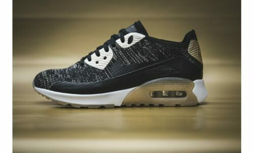 Nike womens Air Max 90 ultra 2.0 flyknit gr:38 90 95 97 NZ r4 Gold Pack negra