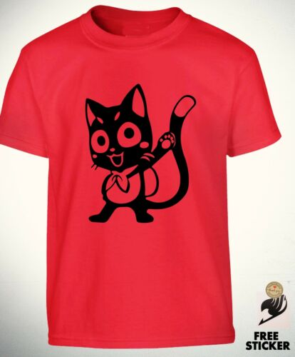 Fairy Tail Happy T Shirt Natsu Lucy Funny Cat Tee Dope Cool Anime Cadeau Top Kids