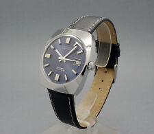 New Old Stock 34mm THERMIDOR blue dial vintage AUTOMATIC watch NOS FE 3611